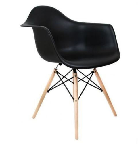 Set of 4 Eiffel Tub Chair Wood Black