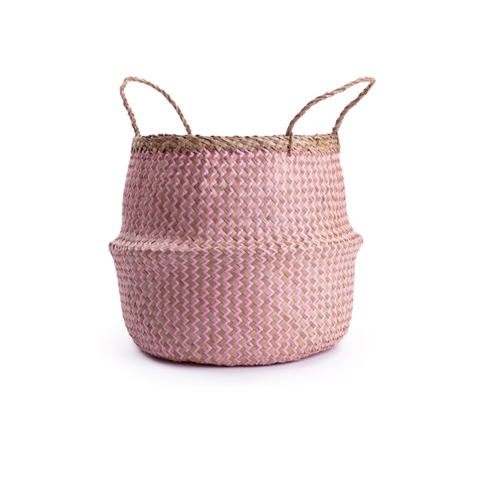 Seagrass Basket Blush