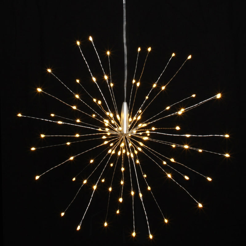Remote Silver Hanging Starburst 40cm Outdoor/Indoor