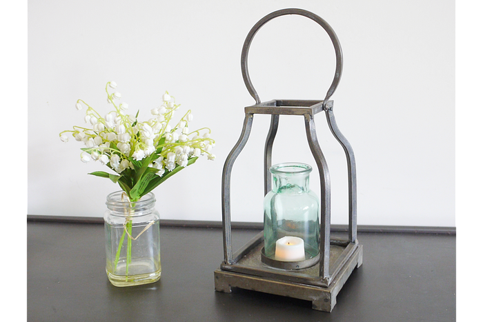 Mint Glass Lantern
