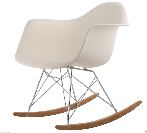 Rocking Eames Style Tub Chair Cream