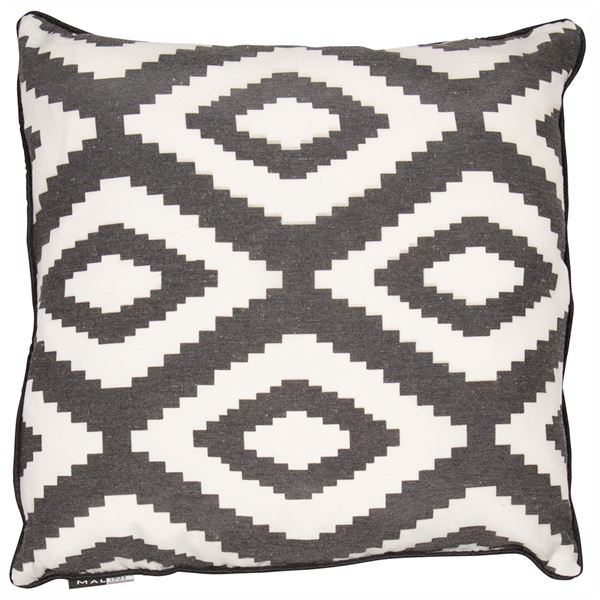 Monochrome Geo Cushion Filled