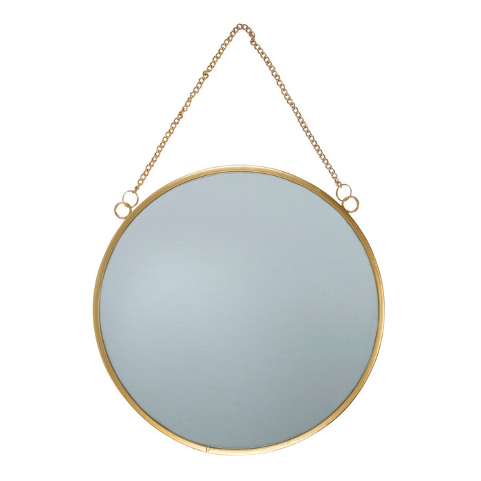 Gold Round Mirror Large