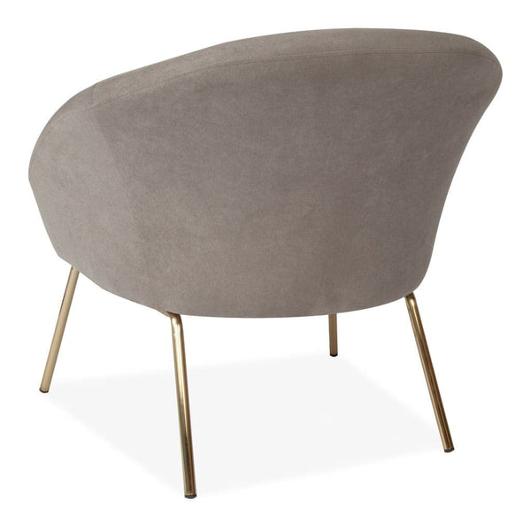 Velvet Cocktail Chair Grey