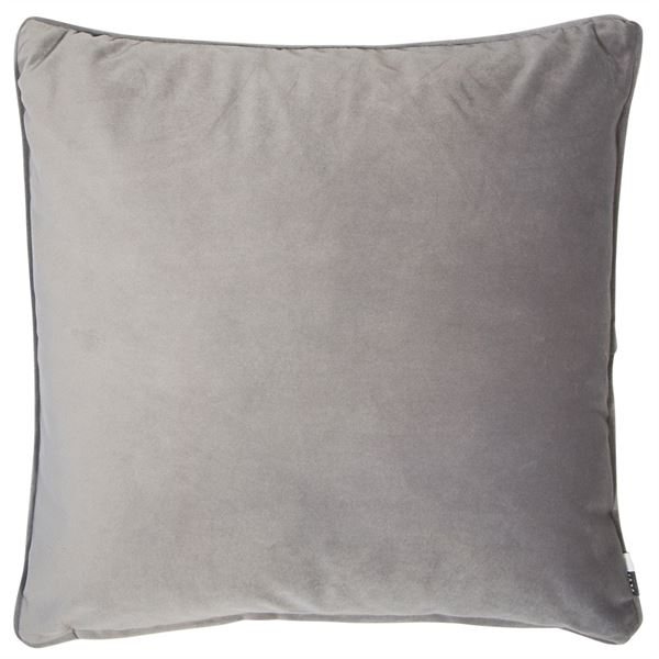 Grey Velvet Cushion Filled
