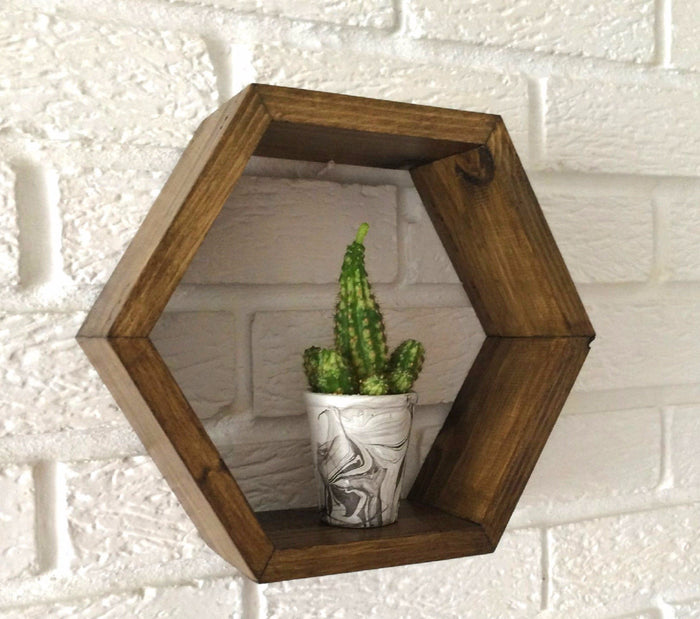 Hexagon Shelf Pine