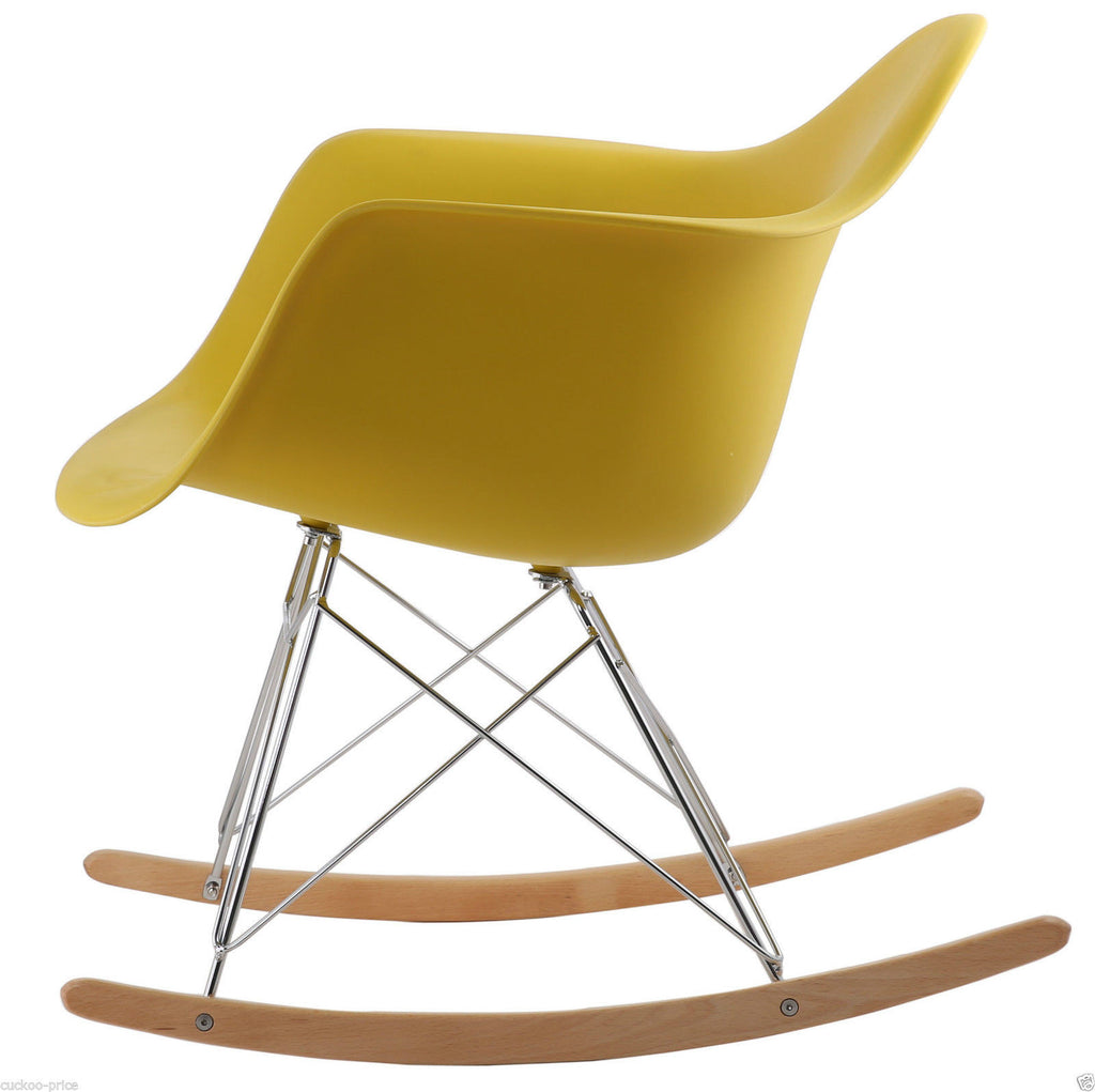 Rocking Eames Style Tub Chair Mustard