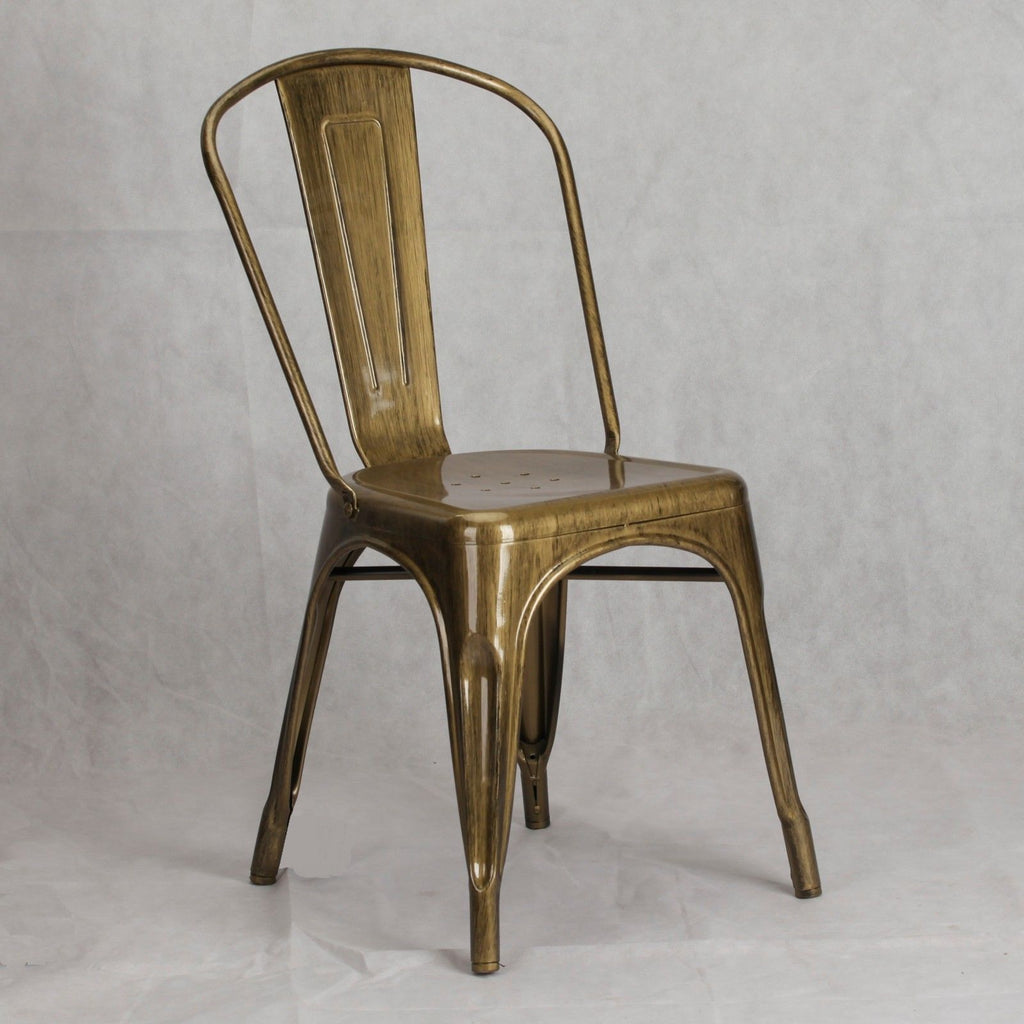 Tolix Style Chair Brass