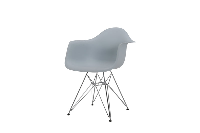 Eiffel Tub Chair Metal Light Blue