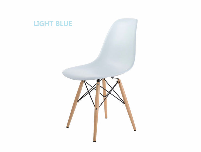 Eames Style Wooden Chair Light Blue