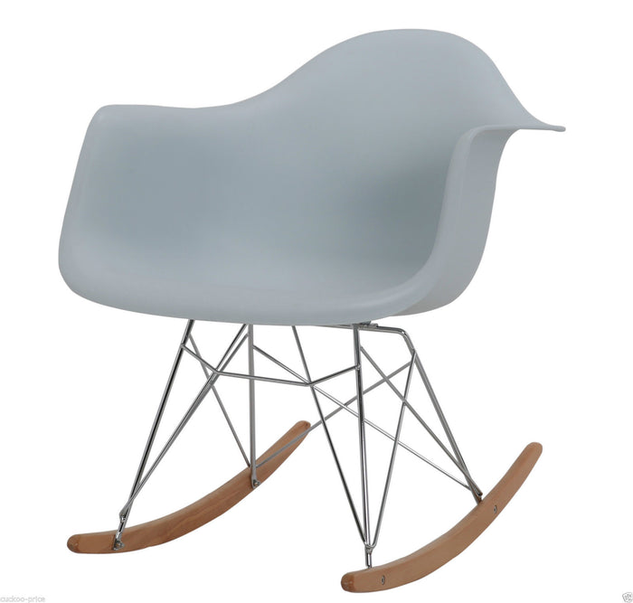 Rocking Eames Style Tub Chair Light Blue