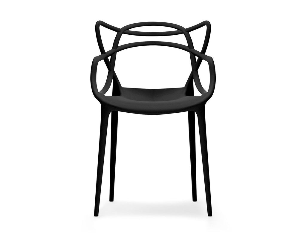 Set of 6 Masters Style Chairs Black
