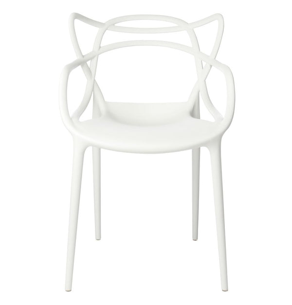 Set of 6 Masters Style Chairs White