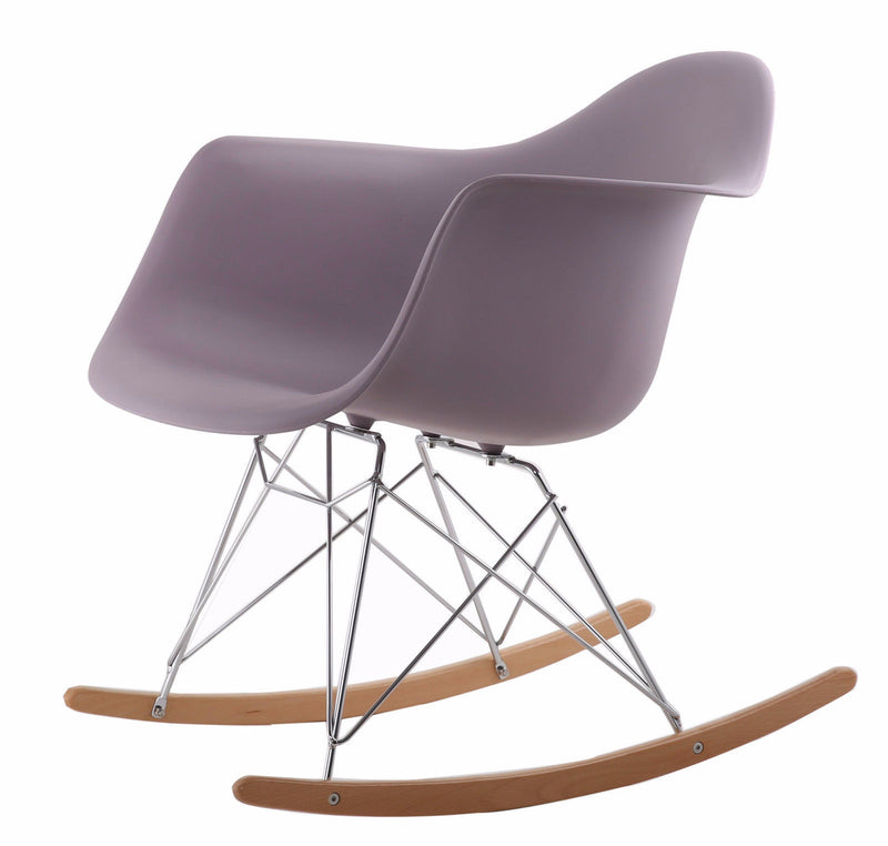 Rocking Eames Style Tub Chair Mauve Grey