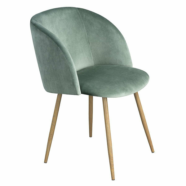 Mid-Century Velvet Chair Mint