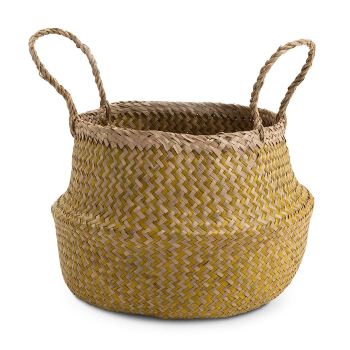 Seagrass Basket Mustard Large