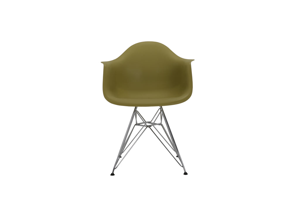Eiffel Tub Chair Metal Olive