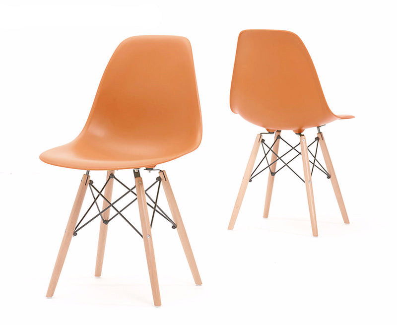 Eames Style Wooden Chair Apricot