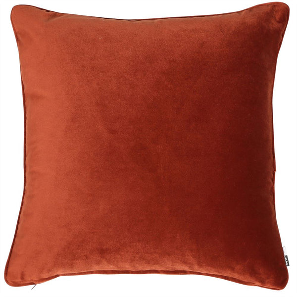 Paprika Velvet Cushion Filled