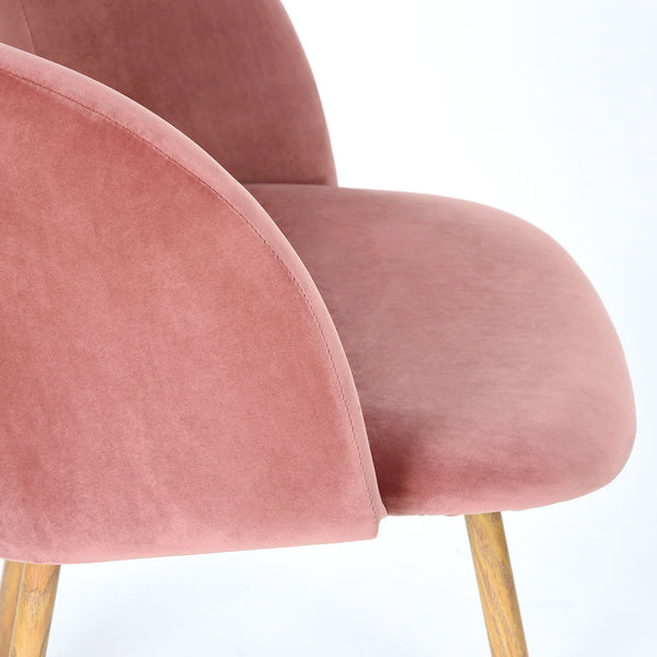Mid-Century Velvet Chair Rose