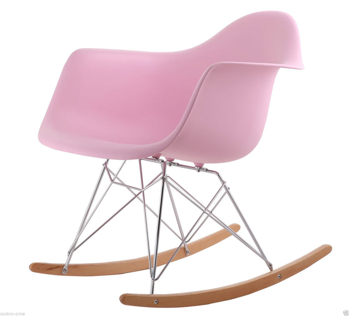 Rocking Eames Style Tub Chair Pink