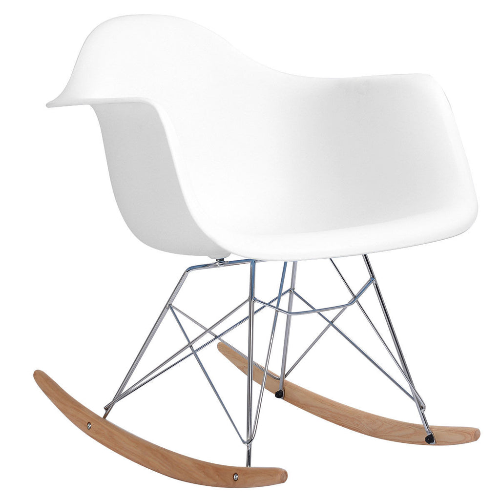 Groovy Rocking Eames Style Tub Chair White Evergreenethics Interior Chair Design Evergreenethicsorg