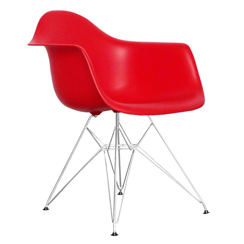 Eiffel Tub Chair Metal Red – Bothy Blue