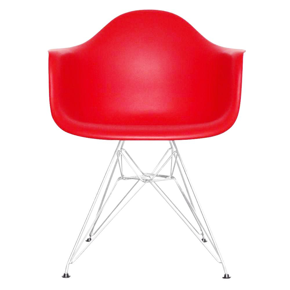 Eiffel Tub Chair Metal Red