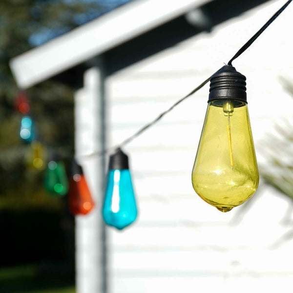 Solar Edison Style Festoon Lights Coloured