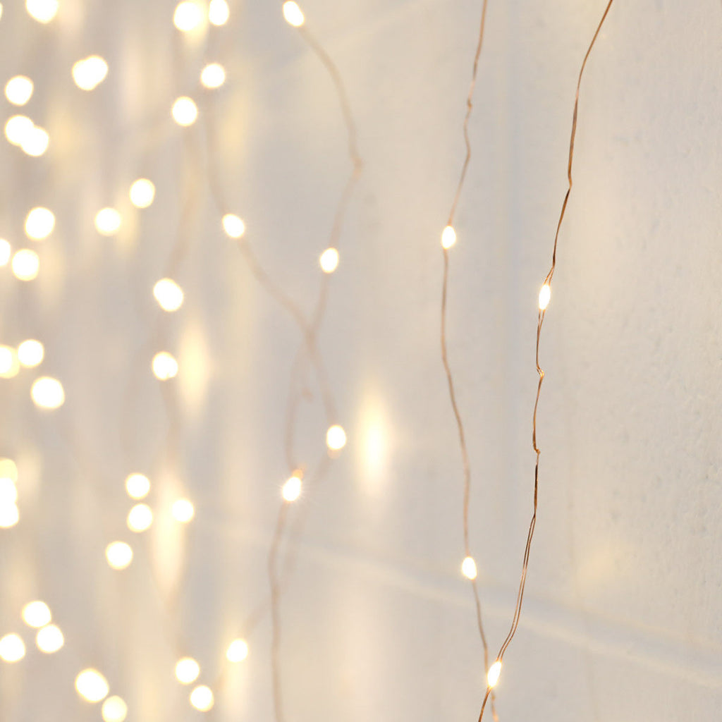 Copper Micro Fairy Light Branch