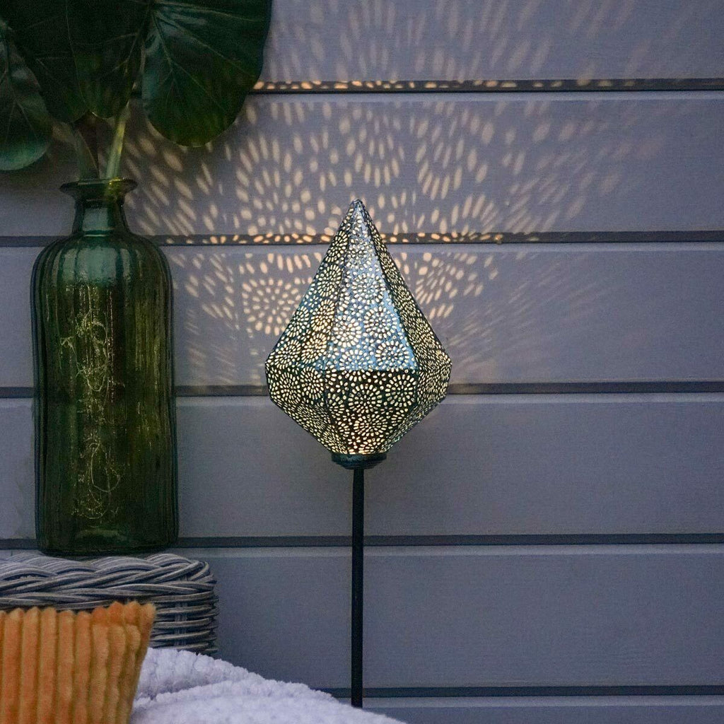 Solar Moroccan Stake Light Blue