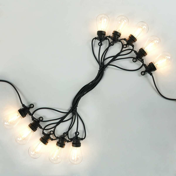 5m Solar Festoon String Lights Clear Warm White