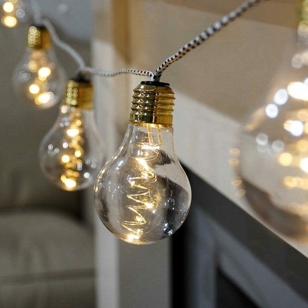 Gold Festoon String Lights Corded