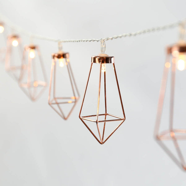 Rose Gold Lantern String Lights