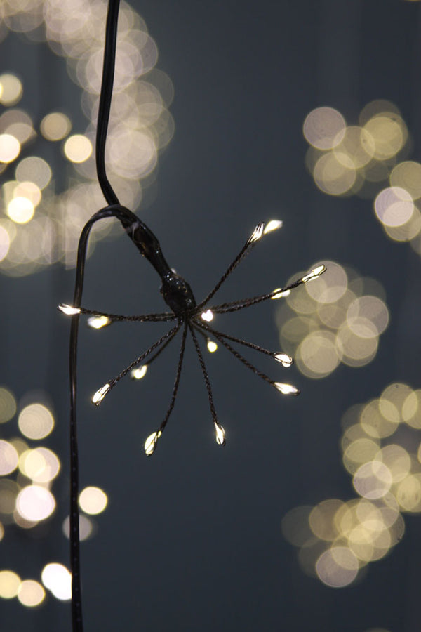 Solar Black Starburst String Lights