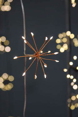 Copper Starburst String Lights