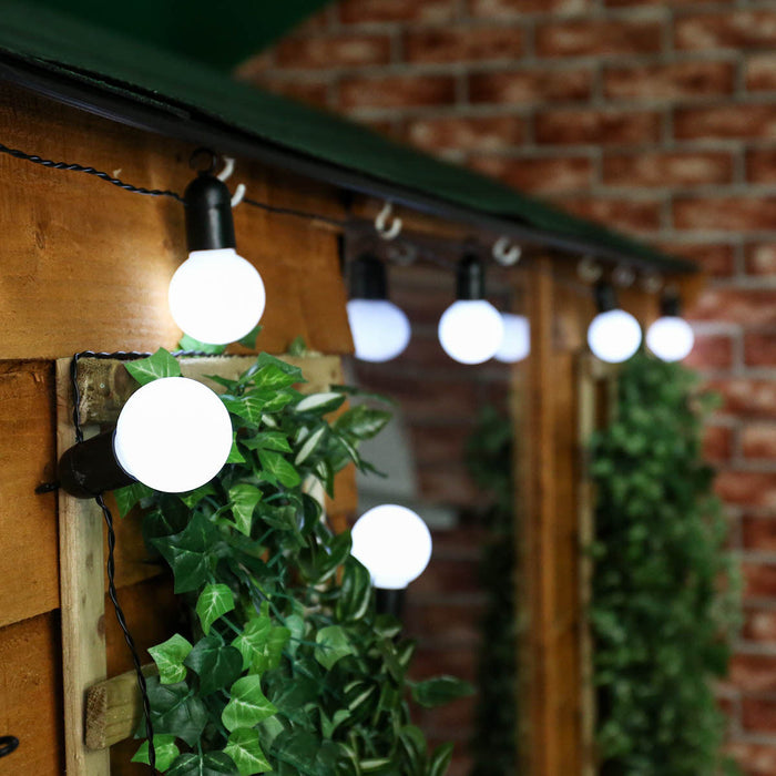 Solar Festoon String Lights White