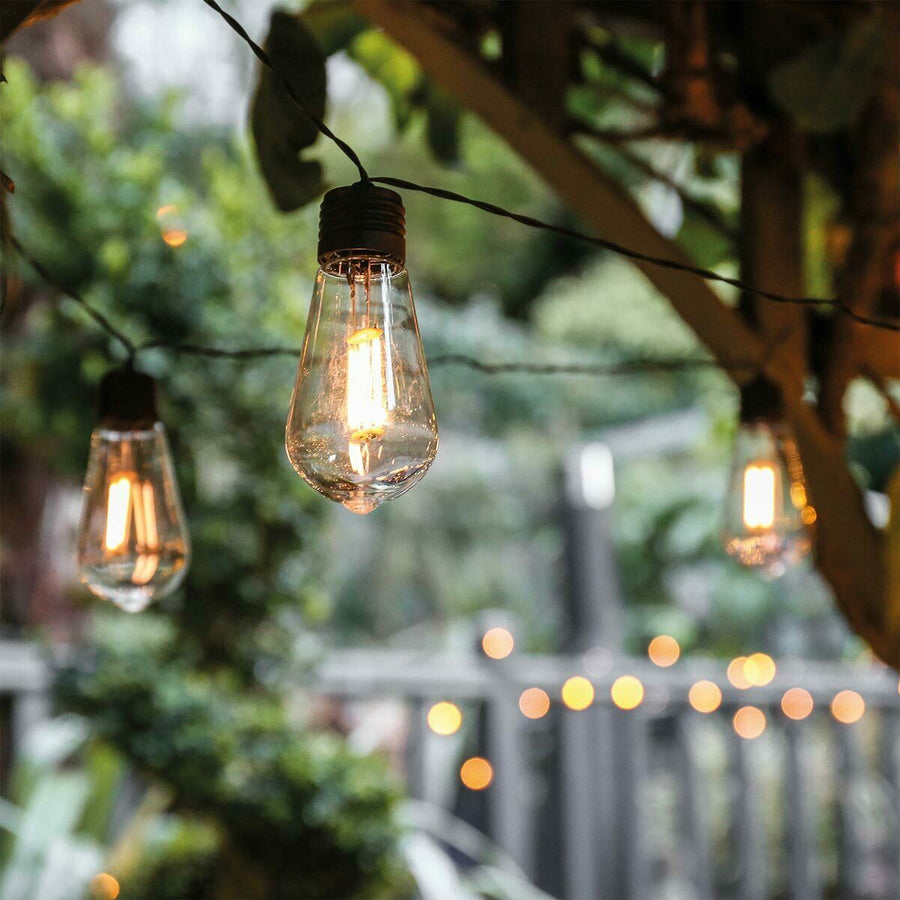 Solar Festoon String Lights Warm White