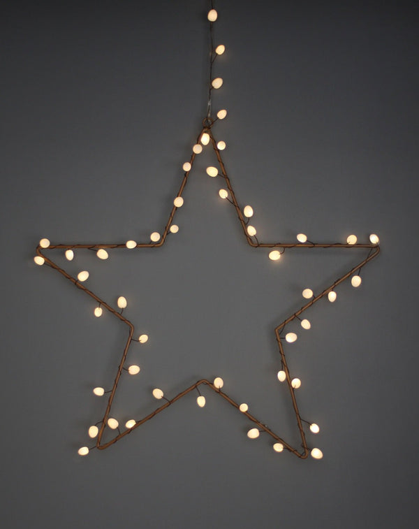 Copper Star String Light Frame