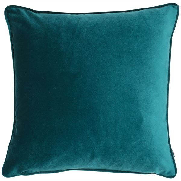 Teal Velvet Cushion Filled Large