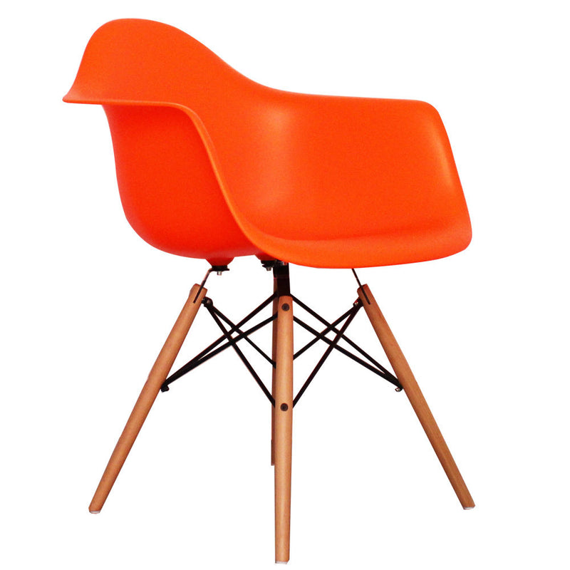 Eiffel Tub Chair Wood Orange