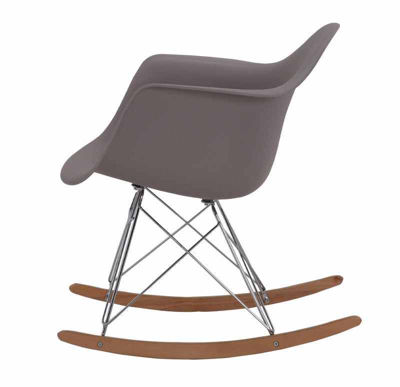 Rocking Eames Style Tub Chair Steel Grey
