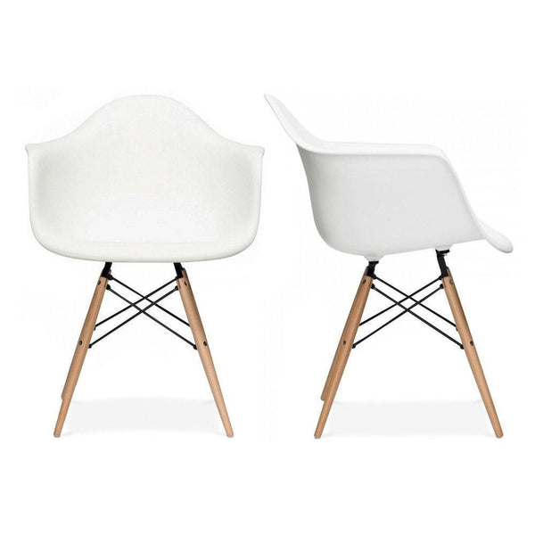 Eiffel Tub Chair Wood White