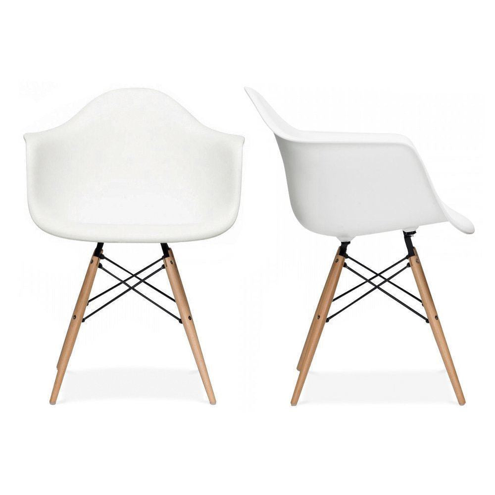 Set of 4 Eiffel Tub Chair Wood White