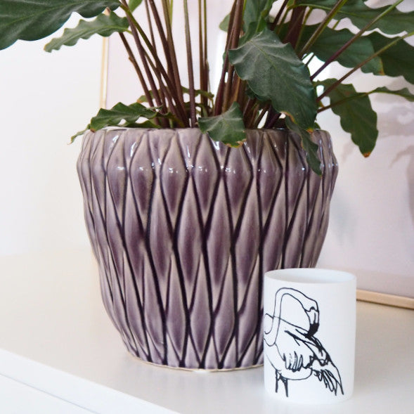 VIOLET DIAMOND PLANTER
