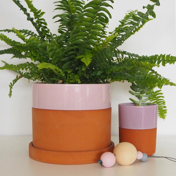 PALE ROSE TERRACOTTA PLANTER