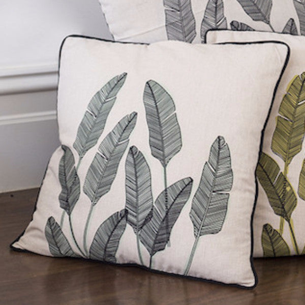 MINT PALM PRINT CUSHION