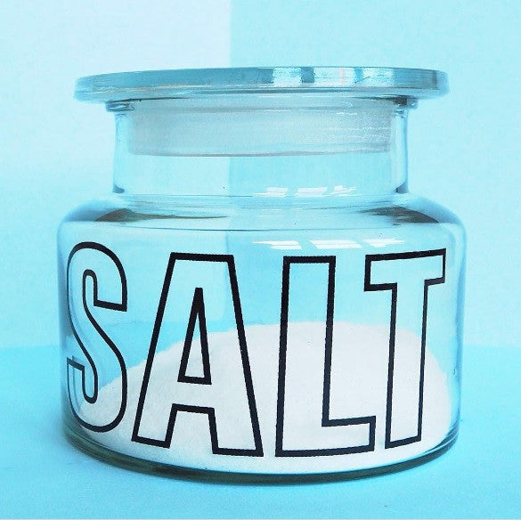 TYPOGRAPHY SALT JAR