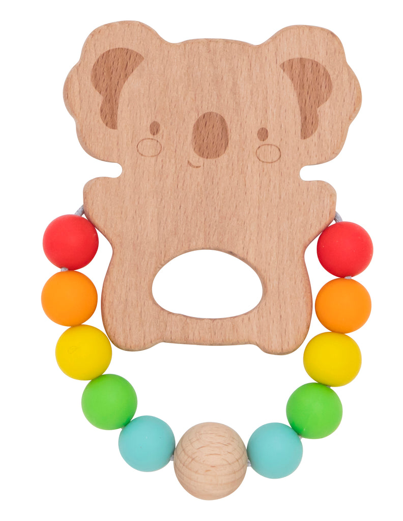 Koala Wooden Silicone Teether