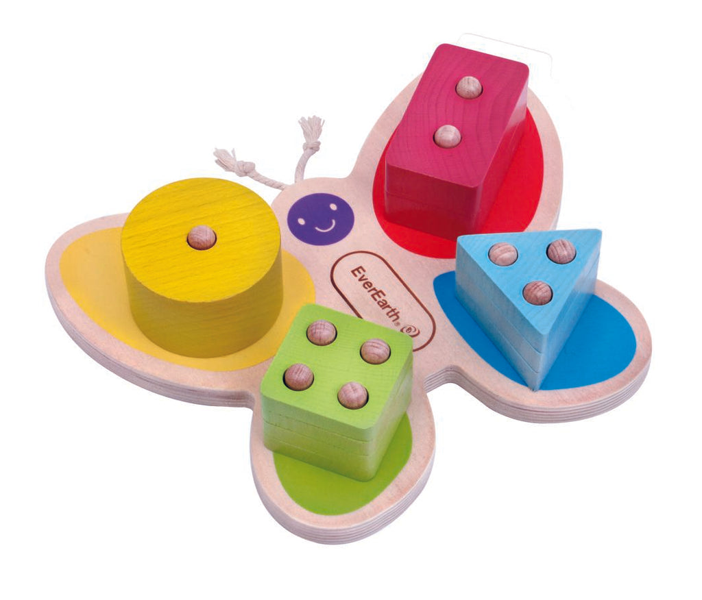 EverEarth - Butterfly Stacking Toy - 12 M+